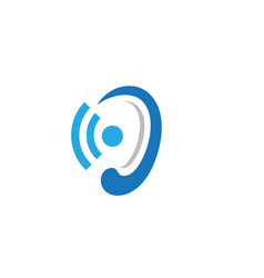 Hearing logo template vector