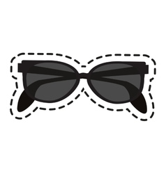 Isolated fashion glasses design vector image