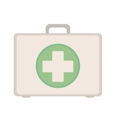Kit first aid in box icon vector image vector image