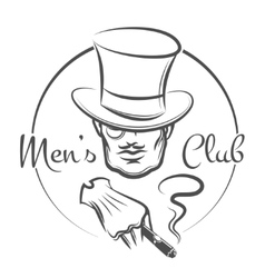 Mens club logo vector