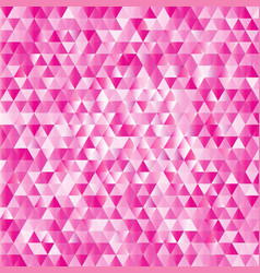 Pink abstract triangles background vector