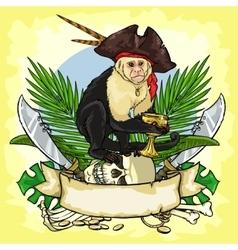 Pirates treasure logo design vector