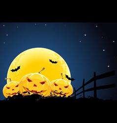 pumpkin halloween background vector image vector image