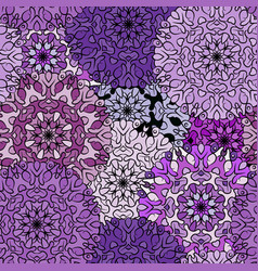 Seamless violet exotic medieval pattern vector