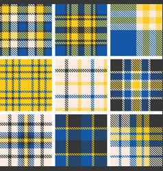 set of tartan seamless pattern vector image vector image