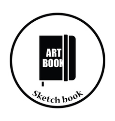 Sketch book icon vector image vector image