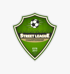 Soccer logo template football logotype emblem vector