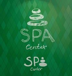 Spa center hand drawn logo vector