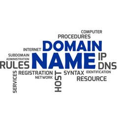 Word cloud - domain name vector
