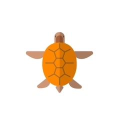 Turtle from above primitive style childish sticker vector