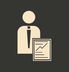 flat in black white man and contract vector image