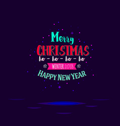Christmas and new year typographic vector