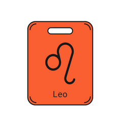 Leo sign of the zodiac flat symbol horoscope and vector