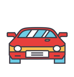 race car racing concept line icon vector image