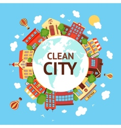 Clean city scape background vector