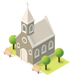 Isometric church vector image