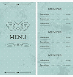 Restaurant or cafe menu design template vintage vector