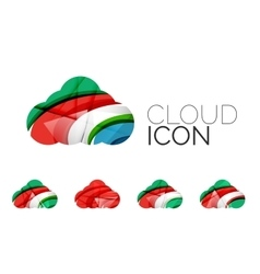 Set of abstract cloud computing icons business vector