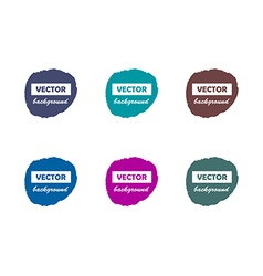 Colorful round paint stains for your text set vector