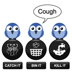 Flu prevention vector image