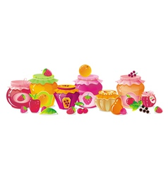 Fruit jams vector