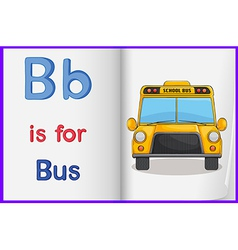 A picture of a bus in a book vector image