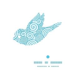 Abstract swirls bird silhouette pattern frame vector