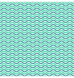 Aqua blue waves seamless pattern vector image vector image