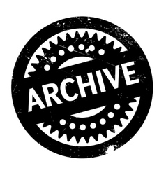 Archive rubber stamp vector