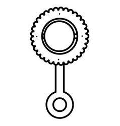 Baby maraca isolated icon vector
