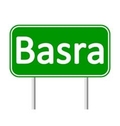 Basra road sign vector image vector image