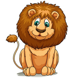 Behaved brown lion vector image