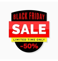 Black friday sale banner black red and yellow vector