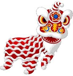 Cartoon chinese lion mascot vector