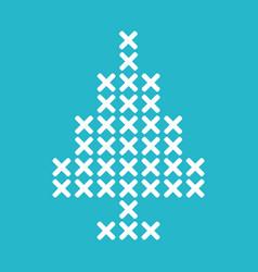 christmas tree cross stitch vector image