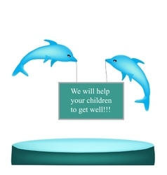 Dolphin therapy baner vector