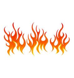 fire design element set vector image vector image