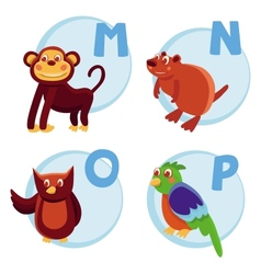 funny cartoon alphabet vector image vector image