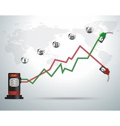 Gasoline pump nozzle gas station vector image