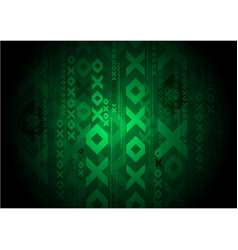green geomatic background template vector image vector image
