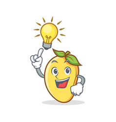 Have an idea mango character cartoon mascot vector