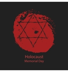 Holocaust Memorial Day vector image