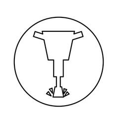 Hydraulic hammer isolated icon vector