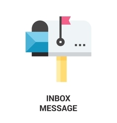 inbox message icon vector image vector image