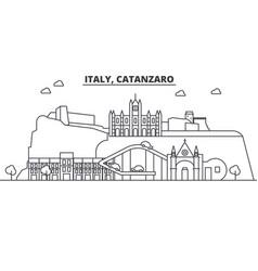 italy catanzaro architecture line skyline vector image vector image