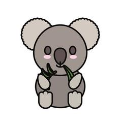 Koala eucalyptus leaves vector