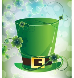 Leprechaun hat on imagination background vector