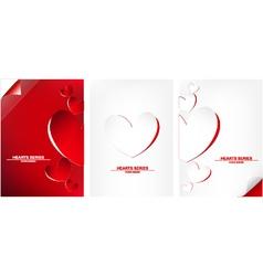 paper heart set design II vector image vector image