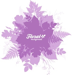 Pink isolated foliage silhouettes trendy banner vector