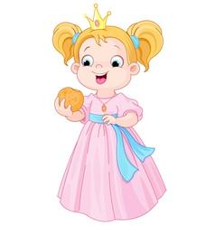 Princess eats hamburger vector image